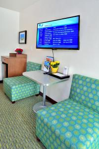 A television and/or entertainment center at Old Town Inn