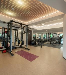 The fitness center and/or fitness facilities at Grand Hotel Belvedere