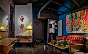 A seating area at Hotel Lobby Room Sevilla