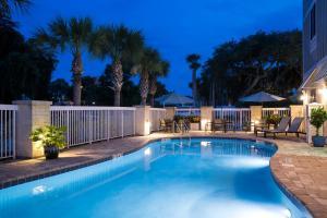 The swimming pool at or near Hampton Inn New Smyrna Beach