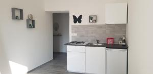 A kitchen or kitchenette at Butterfly House