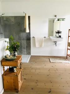 Ein Badezimmer in der Unterkunft Alte Schlossgärtnerei