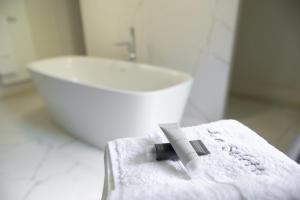 A bathroom at Couvent de la Salette