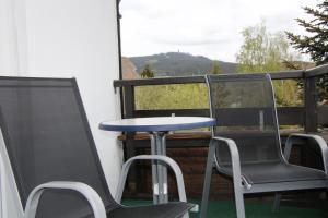 Ein Balkon oder eine Terrasse in der Unterkunft Bremer Schlüssel