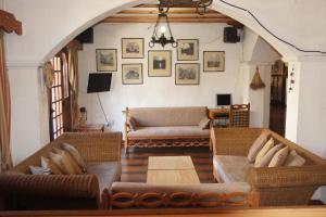 A seating area at Averof