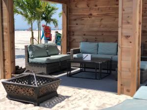 A seating area at ICONA Diamond Beach