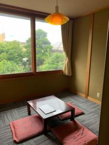 A seating area at ZEN Hostel