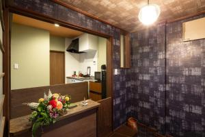 Stay SAKURA 京都東寺町屋にあるキッチンまたは簡易キッチン