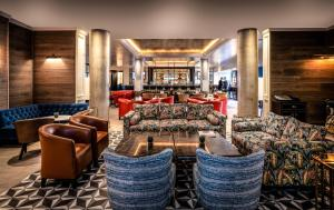 The lounge or bar area at The Croke Park Hotel