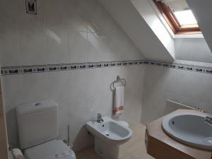 A bathroom at Hostal Santa Maria