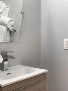 A bathroom at A Wave Inn - Montauk