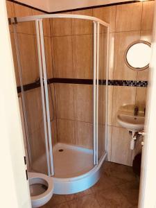Koupelna v ubytování Penzion Severka