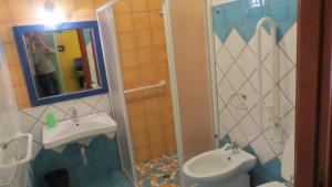 A bathroom at Il Viandante