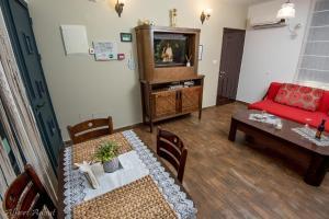 אזור ישיבה ב-טנא בגולן-צימרים בחד נס