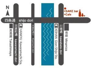 The floor plan of JAM Hostel Kyoto Gion
