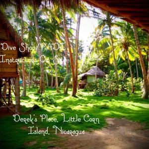 Een tuin van Derek's Place Eco-Lodge
