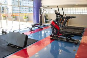 The fitness center and/or fitness facilities at Bristol Brasil 500 Hotel