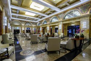 A restaurant or other place to eat at Congress Plaza Hotel Chicago