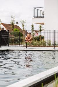 The swimming pool at or near C-Hotels Zeegalm