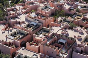 A bird's-eye view of Royal Mansour Marrakech