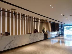 The lobby or reception area at TK Palace Hotel & Convention