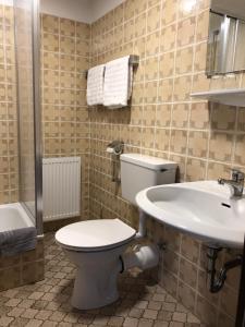 A bathroom at Hotel Südhang