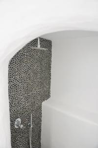A bathroom at Galini Hotel
