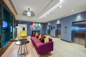 The lobby or reception area at Premier Inn Dubai International Airport