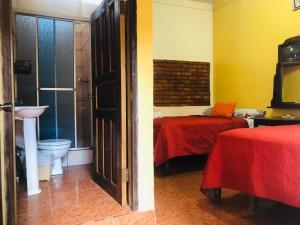 Ванная комната в Hotel Marjenny