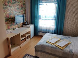 Televízia a/alebo spoločenská miestnosť v ubytovaní Guest house Ošia
