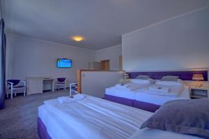 Łóżko lub łóżka w pokoju w obiekcie Willa Księżówka - Wiślanka