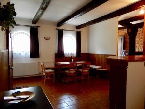 A seating area at Ubytování Medlov