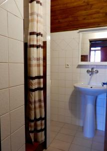 A bathroom at Ubytování Medlov