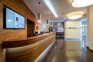 The lobby or reception area at Hotel IMLAUER Wien