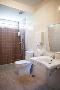 A bathroom at Albergue de Sonia