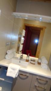 Koupelna v ubytování CHALET LE PADICHA