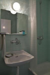A bathroom at Hotel Kladno