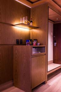 A cozinha ou cozinha compacta de Vogal Luxury Beach Hotel & SPA