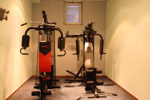 The fitness center and/or fitness facilities at Quality Hotel Dresden West