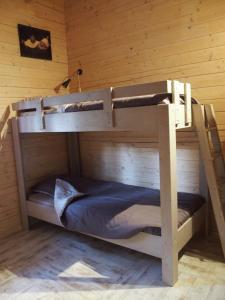 A bunk bed or bunk beds in a room at Chalets du Bois de Vache