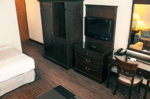 A television and/or entertainment center at Hotel Le Montagnais