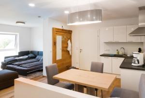 Küche/Küchenzeile in der Unterkunft Feielhof
