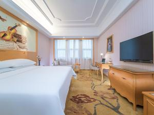 Venus International Hotel Hankou North Branchにあるテレビまたはエンターテインメントセンター