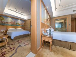 Venus International Hotel Hankou North Branchにあるベッド