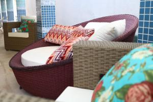 A seating area at Sonho de Iracema Hostel Boutique