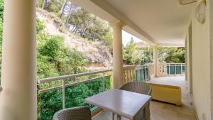 Balcon ou terrasse dans l'établissement Vacancéole - Résidence Adriana