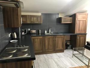 A kitchen or kitchenette at GREEN APARTMENTS UNIQUE EXECUTIVE LUXURY