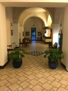 The lobby or reception area at Hotel Miramare