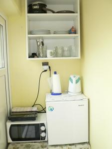 Kuchyň nebo kuchyňský kout v ubytování Penzion W