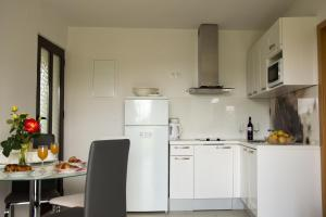 A kitchen or kitchenette at Apartments Tabain